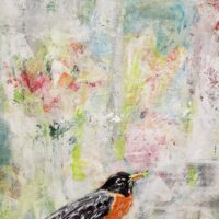 Robin at the window – SOLD